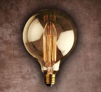 Vintage Edison Light Bulb Squirrel Cage Filament G80