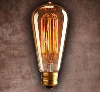 Vintage Edison Light Bulb Squirrel Cage Filament St64